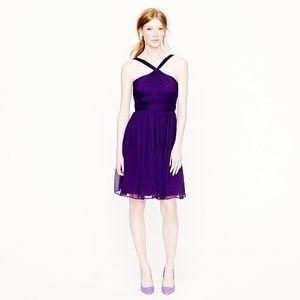 J. Crew Dresses - J. Crew Petite Sinclair Dress in Silk Chiffon